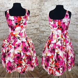 American Living fit and flare plus size dress